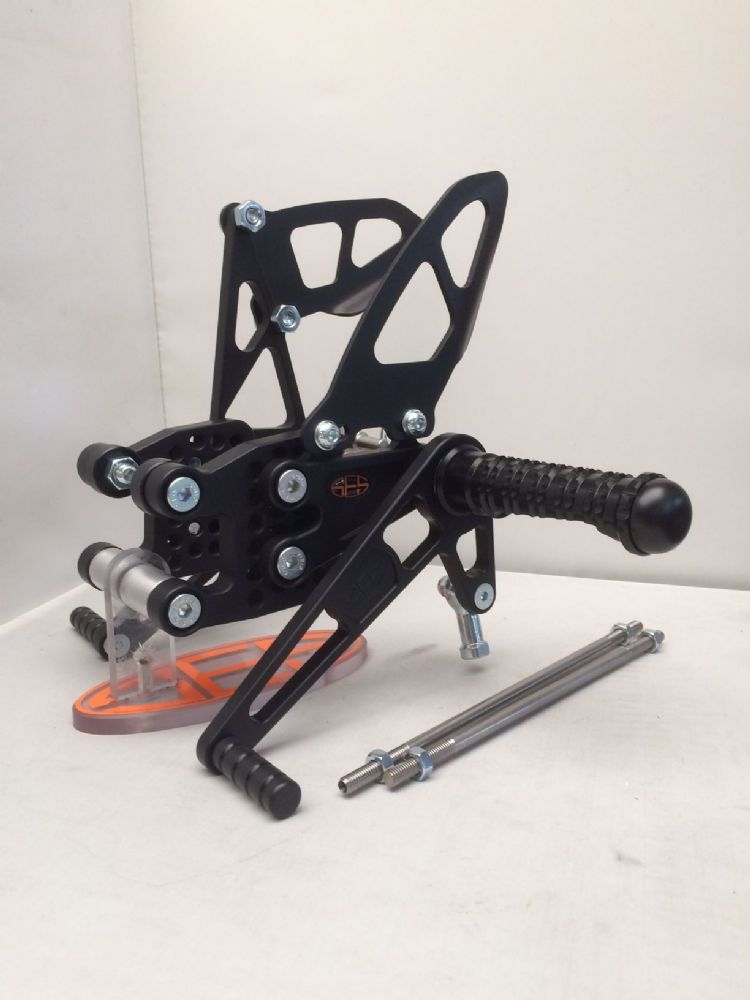 Adjustable Rearsets - Kawasaki ZX10R (04-05). RSK004.